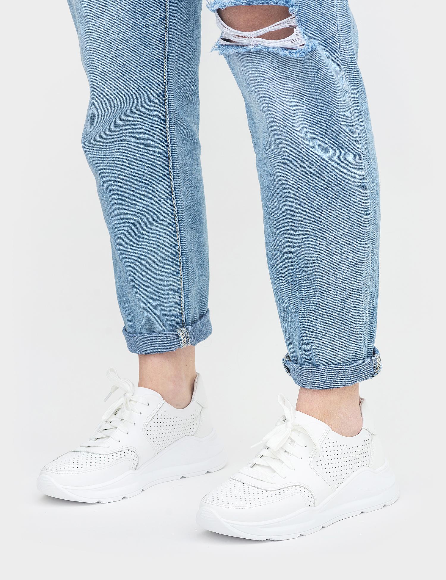 Кросівки  жіночі Кроссовки 00550bil белая кожа 00550bil розмірна сітка взуття, 2017
