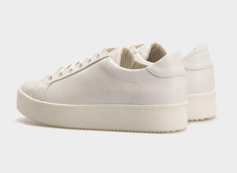 Кроссовки для женщин Кеды 0101-2-010 белая кожа 0101-2-010 цена, 2017