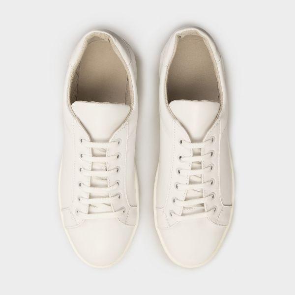 Кроссовки для женщин Кеды 0101-2-010 белая кожа 0101-2-010 брендовая обувь, 2017