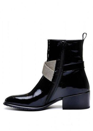 женские 024511 Лаковые черные ботинки Modus Vivendi 024511 цена, 2017