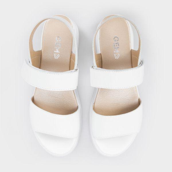 Босоножки для женщин Босоножки 0302-2-010 белая кожа 0302-2-010 обувь бренда, 2017