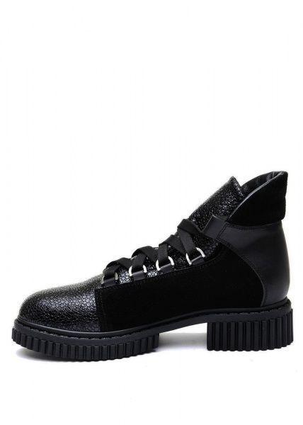 женские 033002 Черные кожаные ботинки на шнурках Modus Vivendi 033002 Заказать, 2017