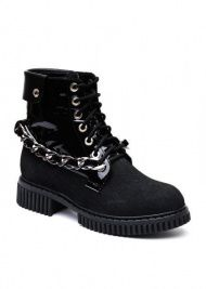 женские 034302 Черные высокие ботинки Modus Vivendi 034302 брендовая обувь, 2017