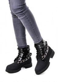 женские 034302 Черные высокие ботинки Modus Vivendi 034302 купить в Интертоп, 2017