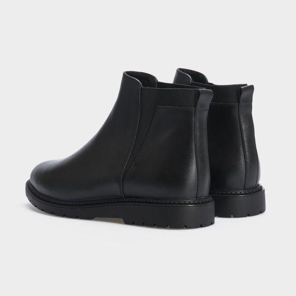 Ботинки женские Ботинки 10000220 черная кожа. Байка 10000220 купить в Интертоп, 2017