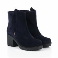 Ботинки для женщин Ботинки Молния замша синие мех 100006 продажа, 2017