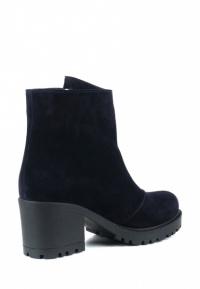 Ботинки для женщин Ботинки Молния замша синие мех 100006 цена, 2017