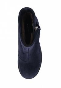 Ботинки для женщин Ботинки Молния замша синие мех 100006 брендовая обувь, 2017