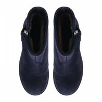 Ботинки для женщин Ботинки Молния замша синие мех 100006 примерка, 2017