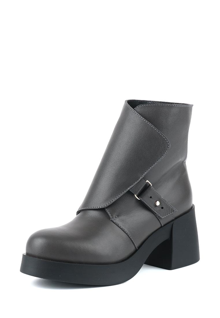Ботинки для женщин Ботинки Агния кожаные на кожаной подкладке графитовые 100037 купить, 2017