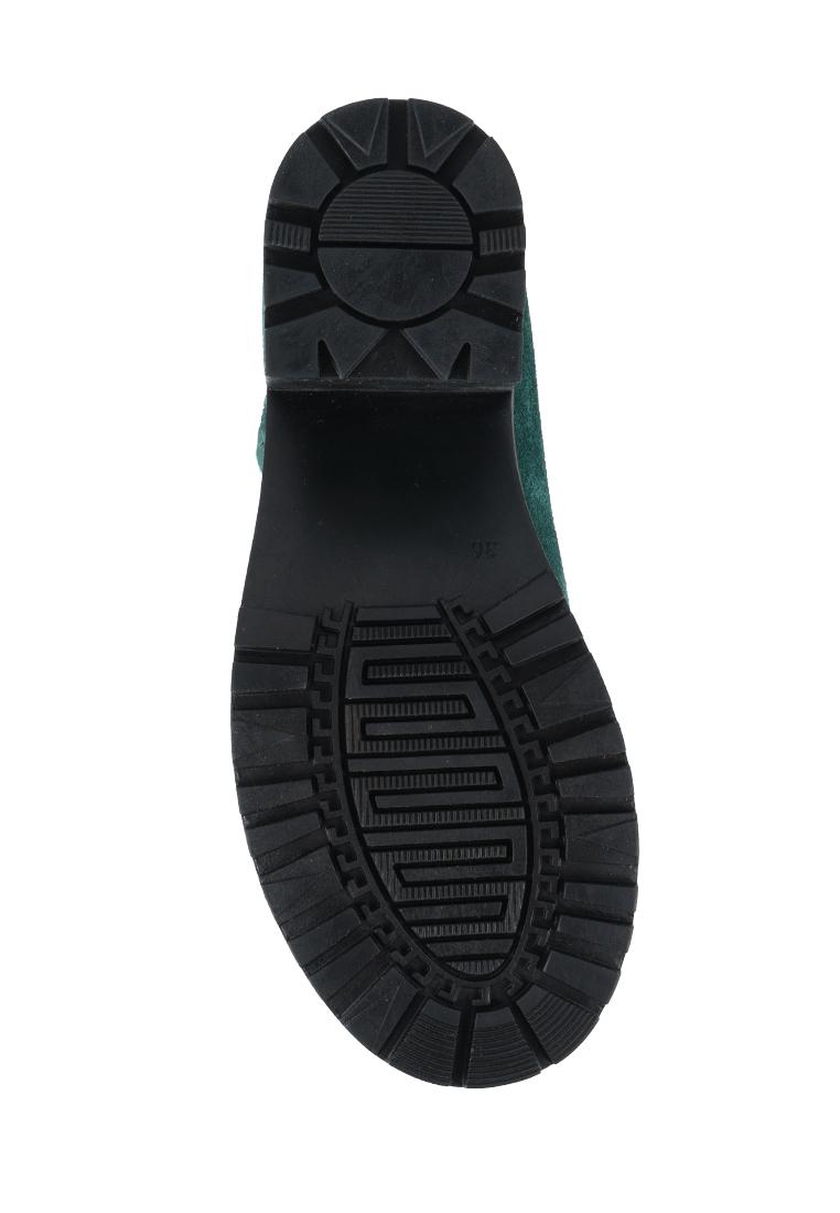 Ботинки для женщин Ботинки Молния замшевые на байке зеленые 100040 , 2017