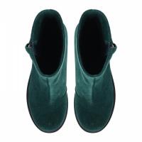 Ботинки для женщин Ботинки Молния замшевые на байке зеленые 100040 выбрать, 2017