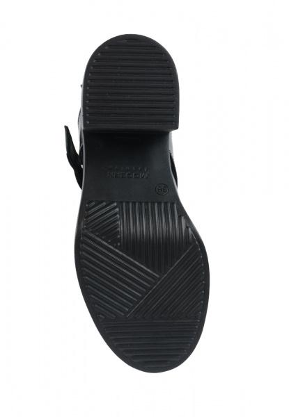 Ботинки женские Ботинки Луна кожаные черные на байке 100043 купить в Интертоп, 2017