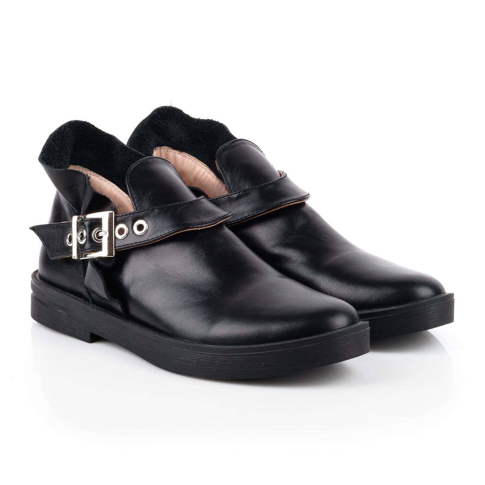 Полуботинки женские Ботинки Мерлин кожаные черного цвета 100051 выбрать, 2017
