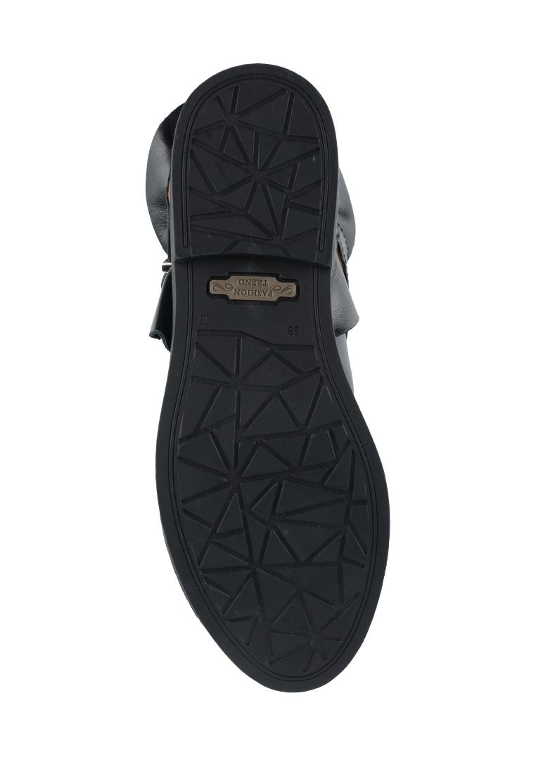 Полуботинки женские Ботинки Мерлин кожаные черного цвета 100051 обувь бренда, 2017