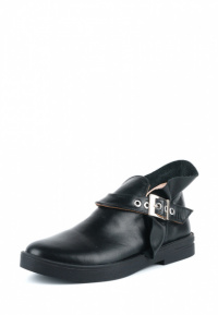 Полуботинки женские Ботинки Мерлин кожаные черного цвета 100051 цена, 2017