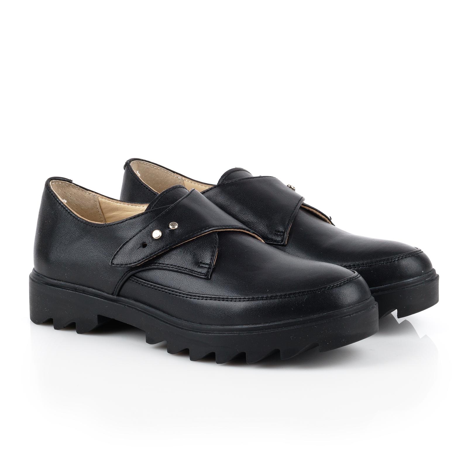 Туфли для женщин Туфли Алина кожаные черного цвета 100053 продажа, 2017