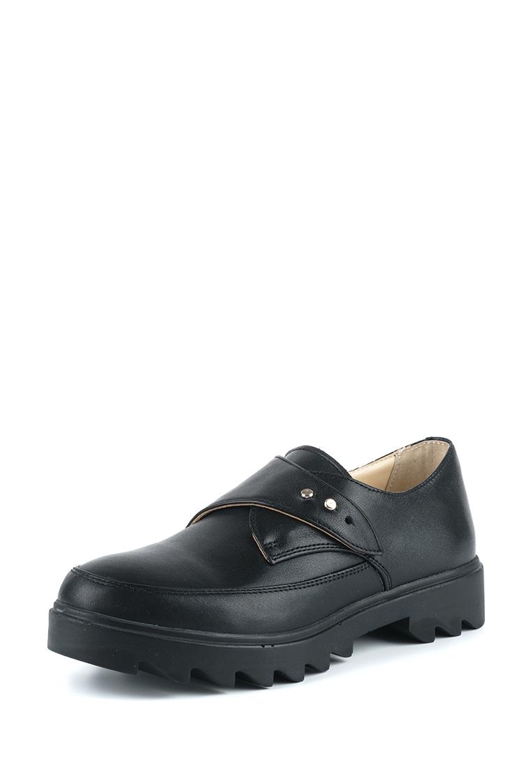 Туфли для женщин Туфли Алина кожаные черного цвета 100053 размерная сетка обуви, 2017