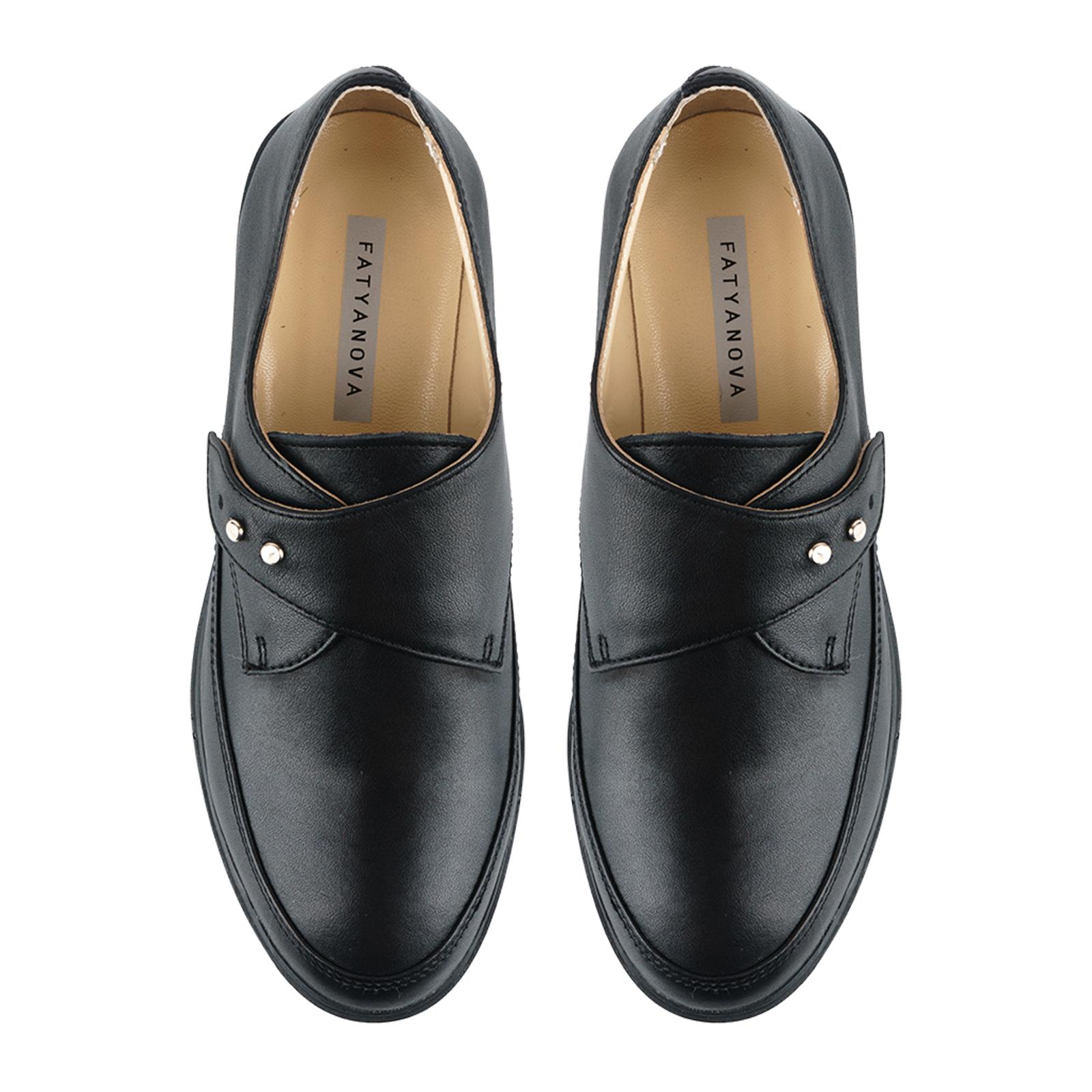 Туфли для женщин Туфли Алина кожаные черного цвета 100053 купить в Интертоп, 2017