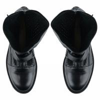 Ботинки женские Ботинки Вера кожаные черного цвета 100057 купить в Интертоп, 2017
