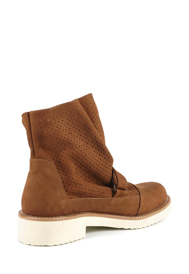 Ботинки женские Ботинки Вера нубуковые коньячного цвета 100062 цена, 2017