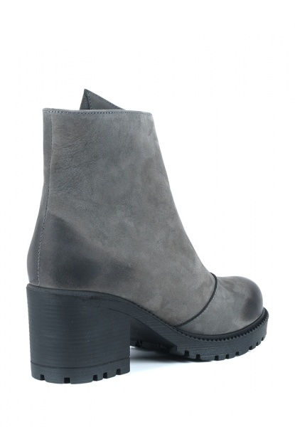 Ботинки женские Ботинки Молния нубуковые серые на байке 100100 выбрать, 2017