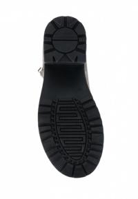 Ботинки женские Ботинки Молния нубуковые серые на байке 100100 цена, 2017