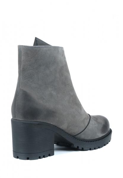 Ботинки женские Ботинки Молния нубуковые серые на меху 100101 примерка, 2017