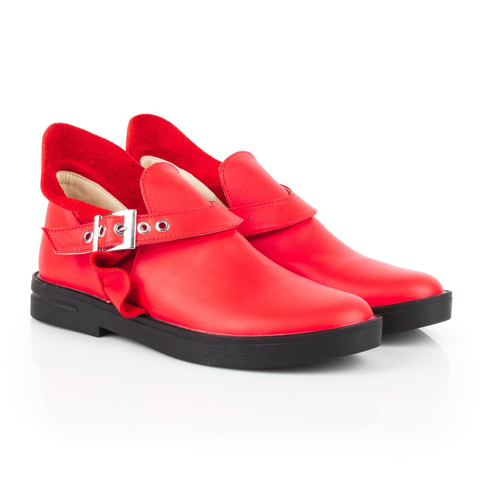 Полуботинки женские Ботинки Мерлин кожаные красного цвета 100102 цена, 2017