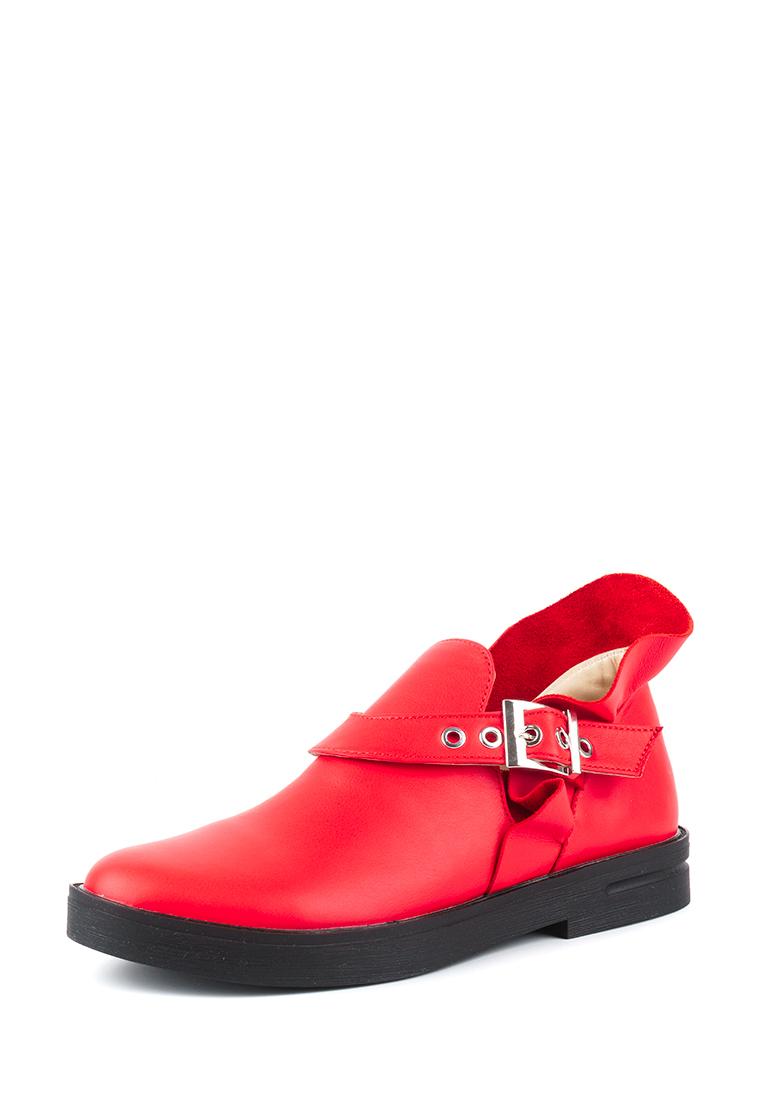 Полуботинки женские Ботинки Мерлин кожаные красного цвета 100102 бесплатная доставка, 2017