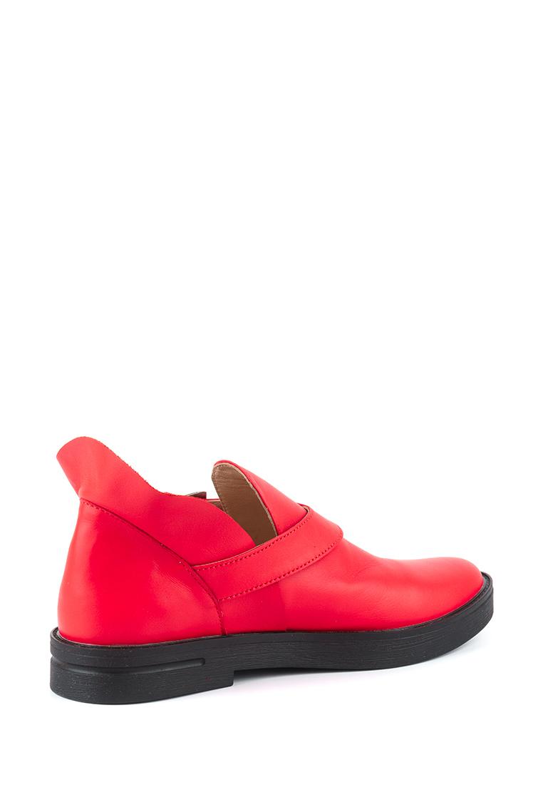Полуботинки женские Ботинки Мерлин кожаные красного цвета 100102 обувь бренда, 2017