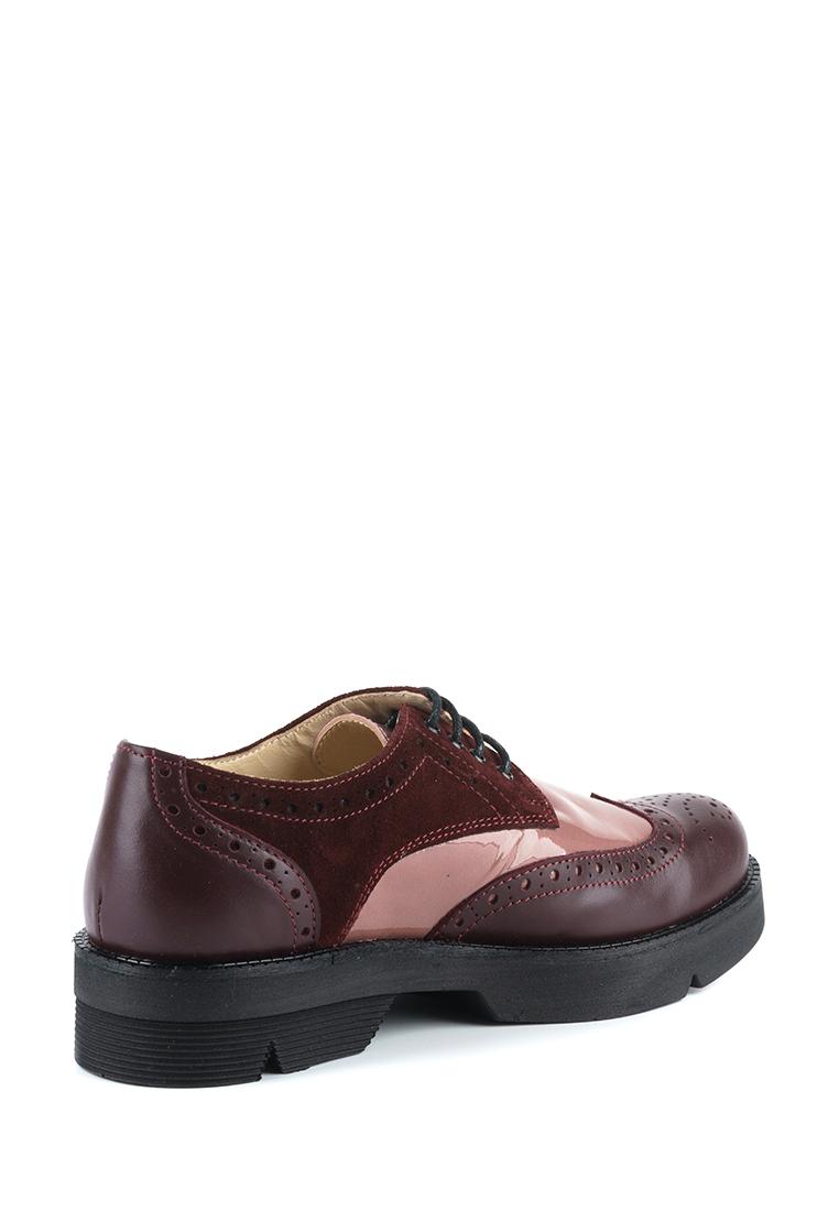 Туфли женские Туфли Фрида кожаные бордовые с розовыми вставками 100103 Заказать, 2017