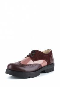 Туфли женские Туфли Фрида кожаные бордовые с розовыми вставками 100103 смотреть, 2017