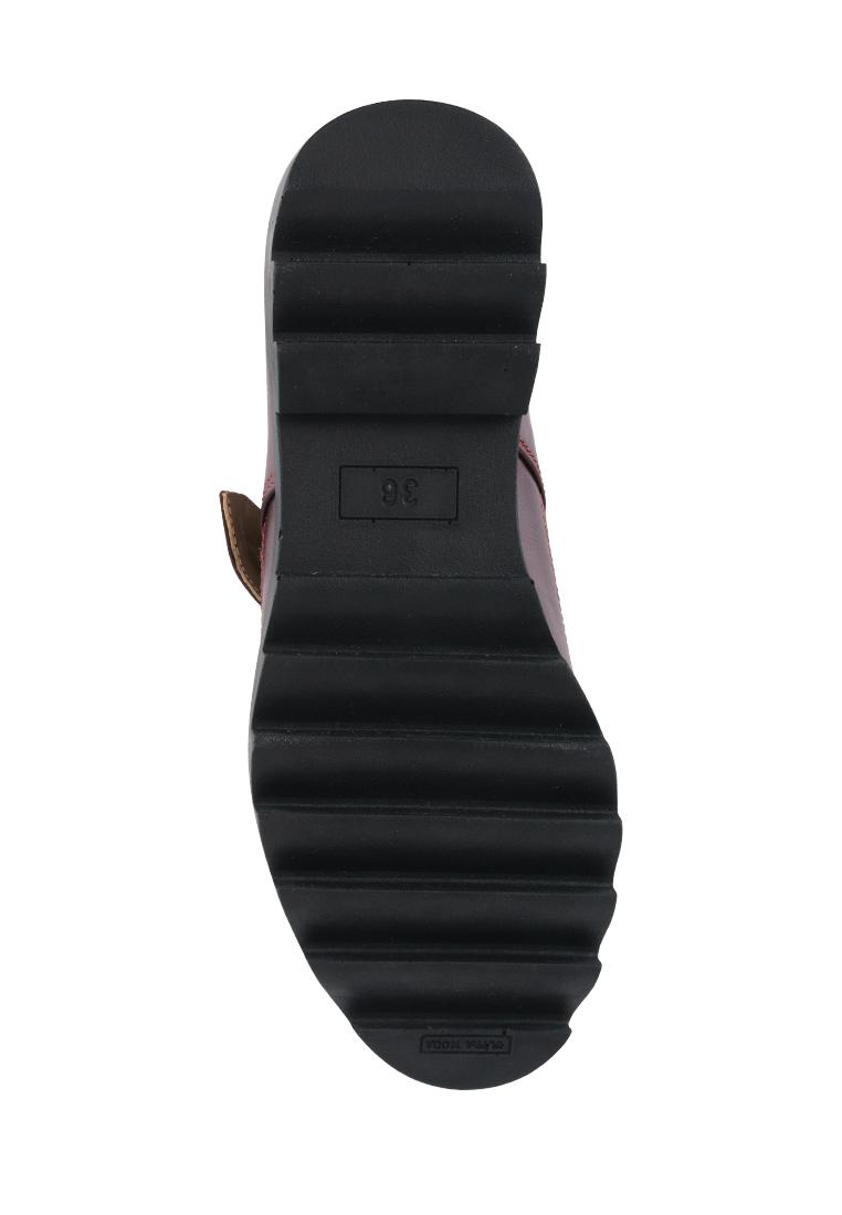 Туфли женские Туфли Алина кожаные бордового цвета 100107 цена, 2017
