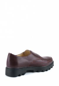 Туфли женские Туфли Алина кожаные бордового цвета 100107 размерная сетка обуви, 2017