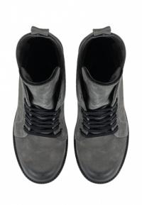 Ботинки женские Ботинки Рада нубуковые серые на байке 100124 примерка, 2017