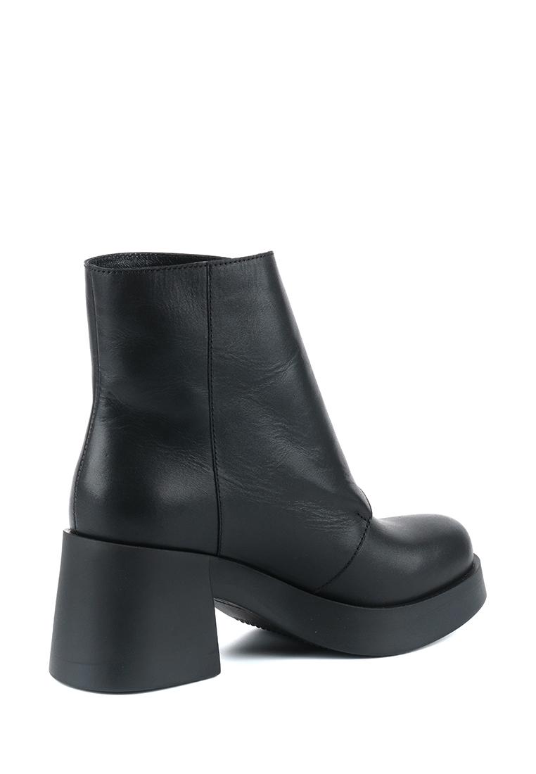 Ботинки для женщин Ботинки Агния кожаные на кожаной подкладке черные 100156 выбрать, 2017