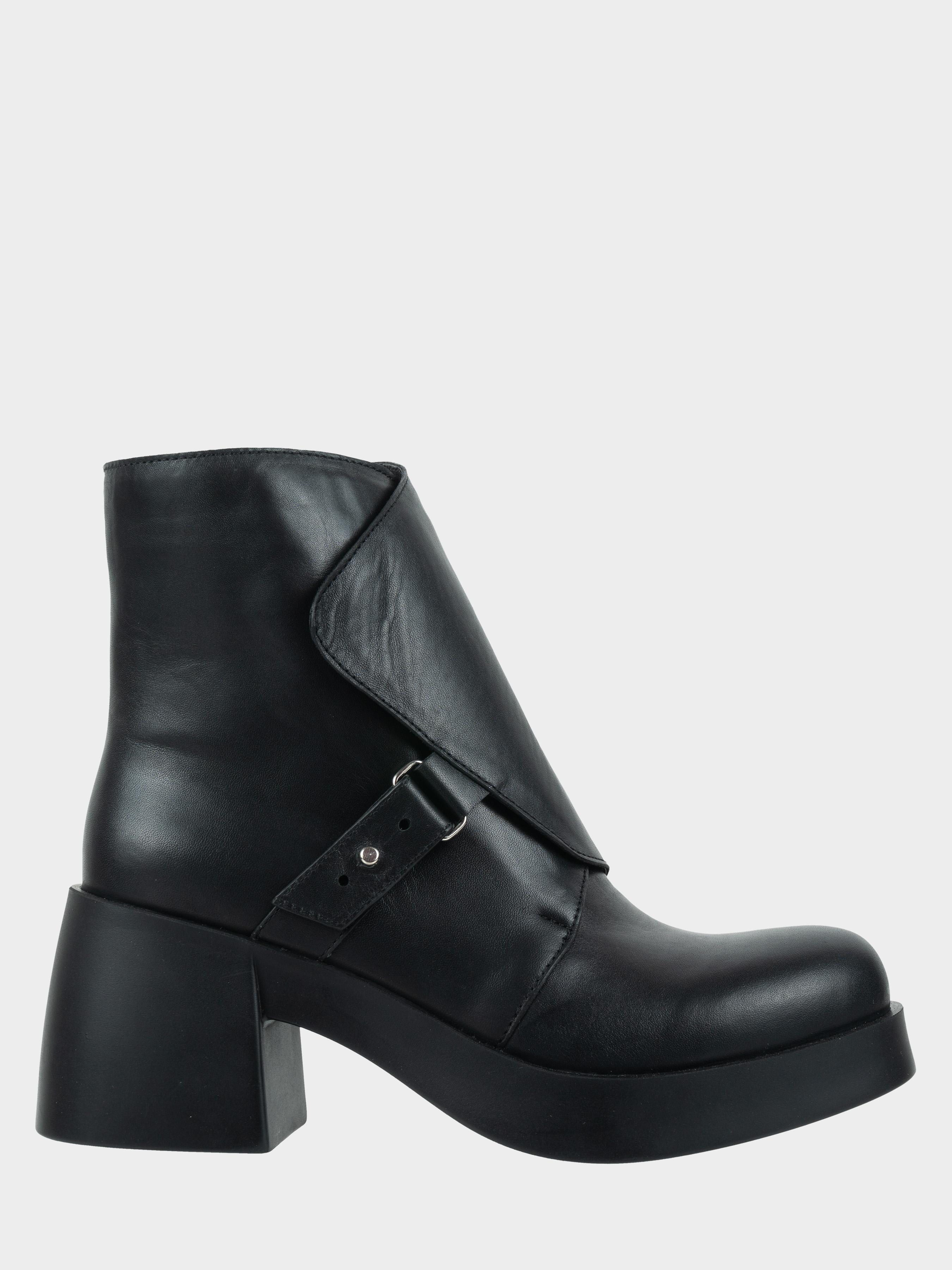 Ботинки для женщин Ботинки Агния кожаные на кожаной подкладке черные 100156 продажа, 2017