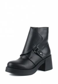 Ботинки для женщин Ботинки Агния кожаные на кожаной подкладке черные 100156 смотреть, 2017