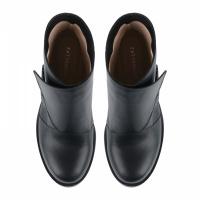 Ботинки для женщин Ботинки Агния кожаные на кожаной подкладке черные 100156 купить онлайн, 2017