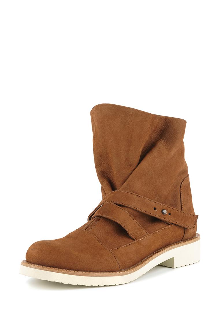 Ботинки для женщин Ботинки Вера-2 нубуковые коньячного цвета 100164 , 2017