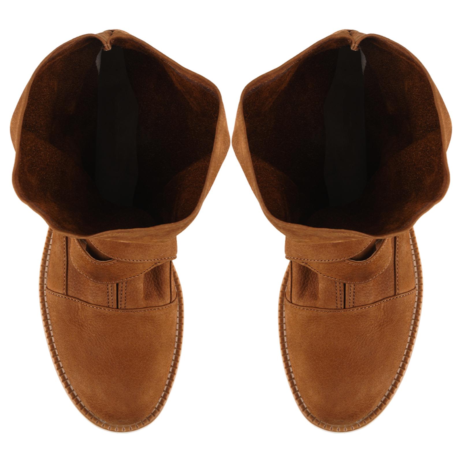 Ботинки для женщин Ботинки Вера-2 нубуковые коньячного цвета 100164 смотреть, 2017
