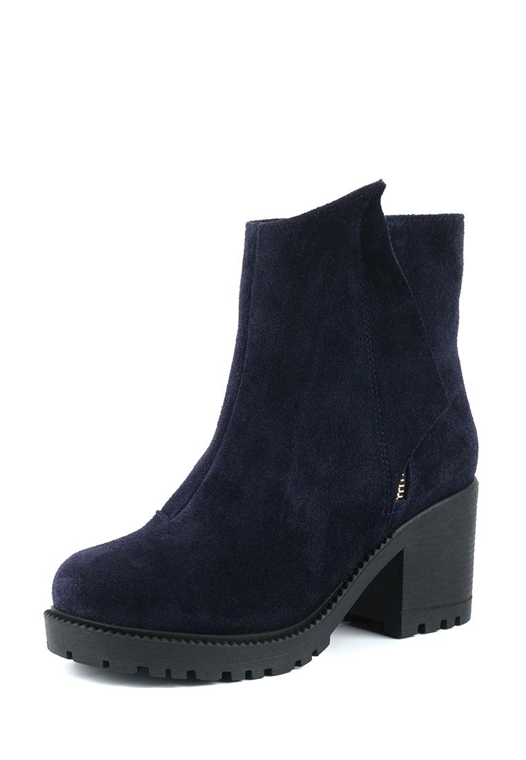 Ботинки женские Ботинки Молния замша синие на байке 100176 цена, 2017