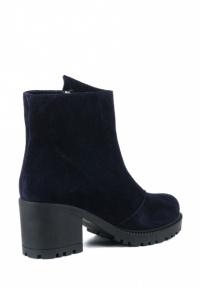 Ботинки женские Ботинки Молния замша синие на байке 100176 брендовая обувь, 2017