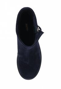 Ботинки женские Ботинки Молния замша синие на байке 100176 купить в Интертоп, 2017