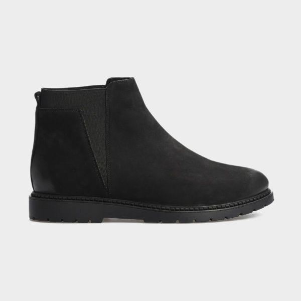 Купить Ботинки женские Ботинки 10018120 черный нубук. Байка 10018120, Gem, Черный