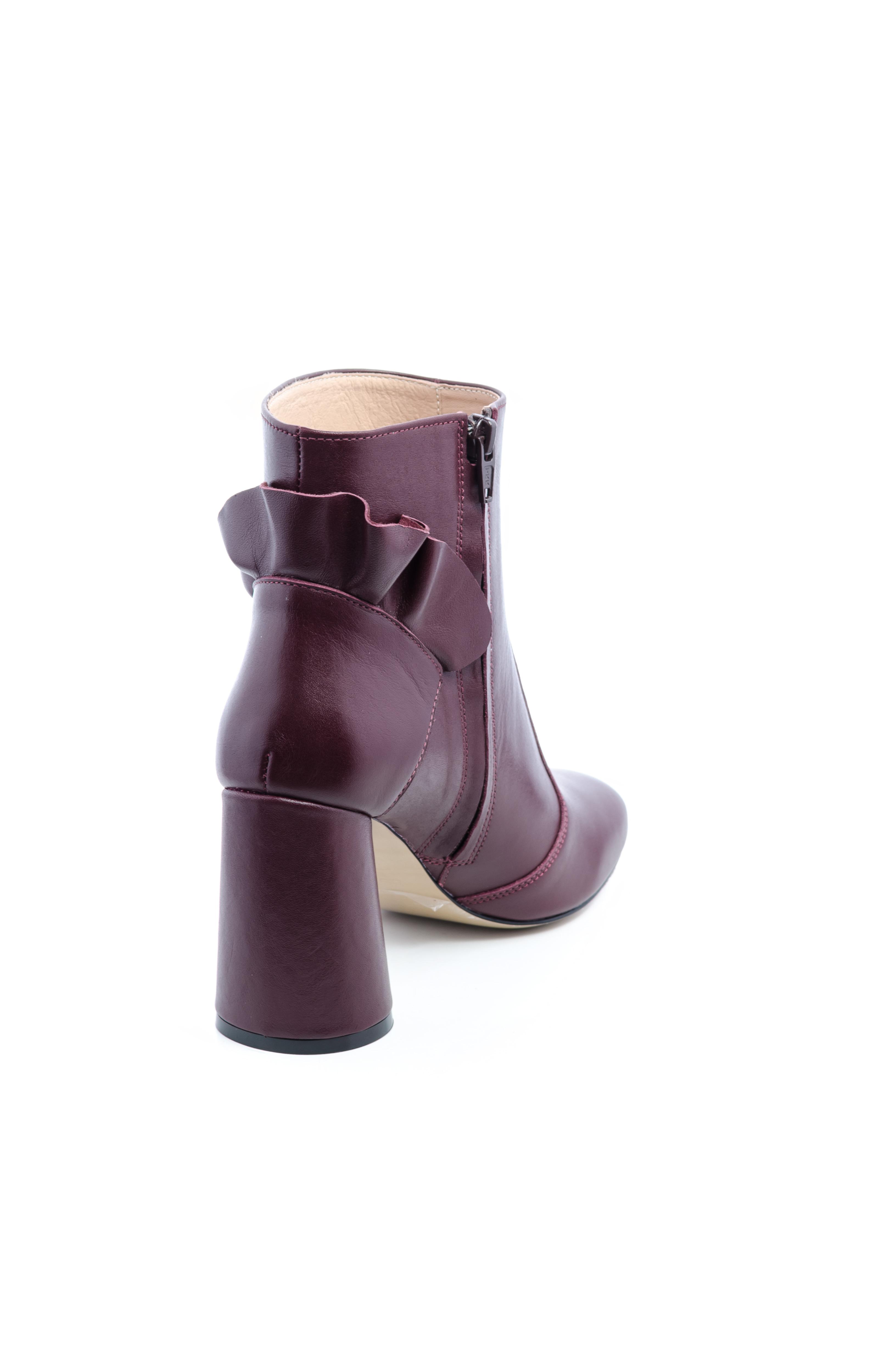 Ботинки женские Ботильоны Бонита кожа бордовые толстый каблук 100182 выбрать, 2017