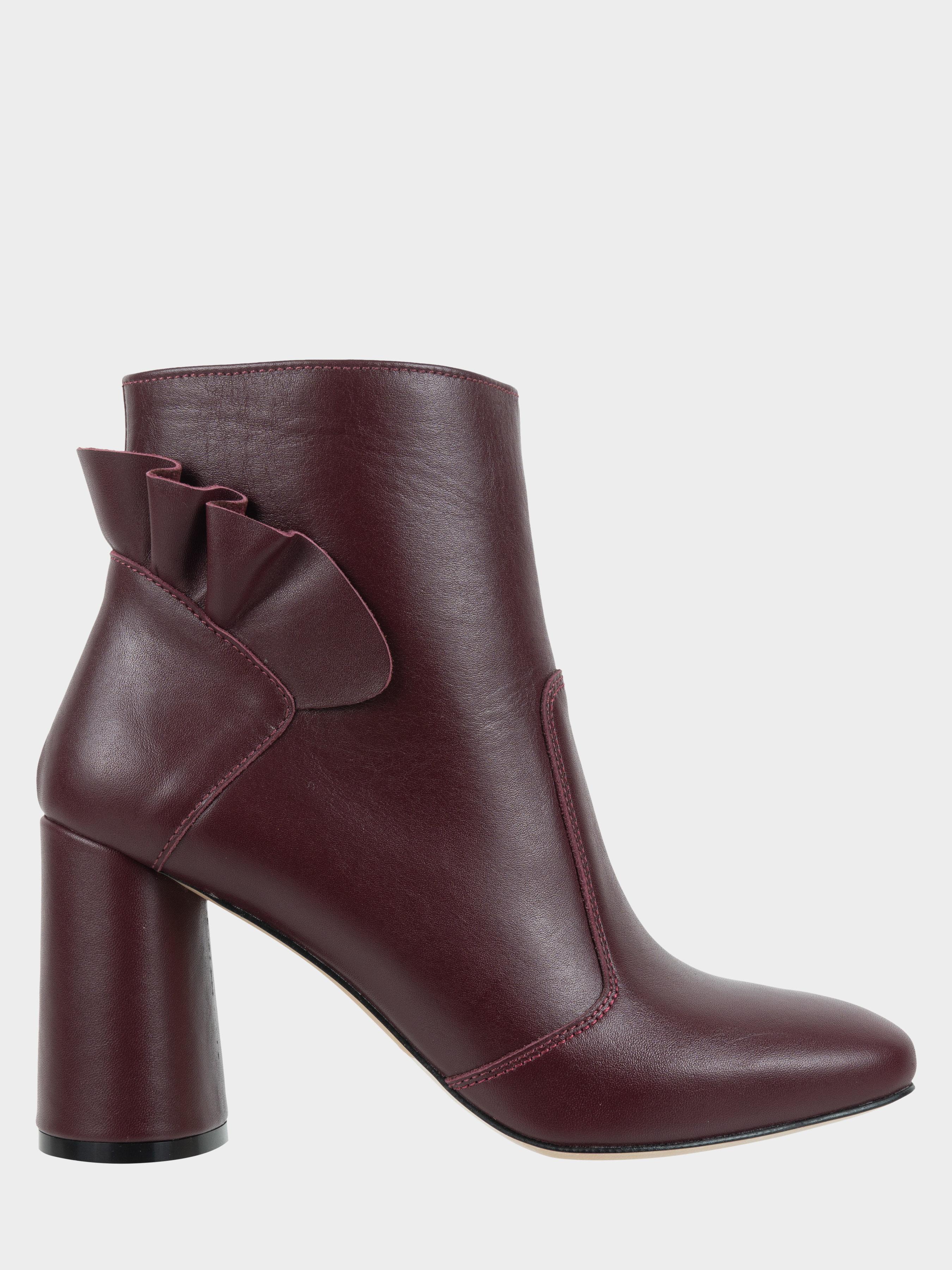 Ботинки женские Ботильоны Бонита кожа бордовые толстый каблук 100182 , 2017