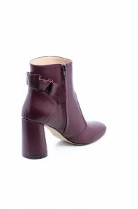 Ботинки женские Ботильоны Бонита кожа бордовые толстый каблук 100182 смотреть, 2017