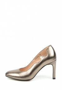 Туфли женские Лодочки Волна кожа темное серебро тонкий каблук 100204 купить в Украине, 2017